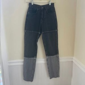 ragged priest patchwork jeans